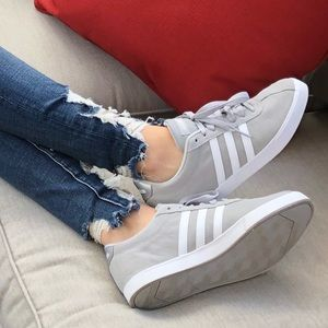 New! Adidas Courtset gray and white shoes